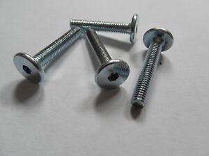 100 x Möbelschrauben Möbelschraube Möbel Schraube Stahl verzinkt 6,4 x 50 mm