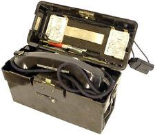 RARE FIELD TELEPHONES PAIR 1960s Bakelite Black Boxed Antique BW Military Issue