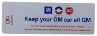 1970 Oldsmobile keep Your Gm Car All Gm Air Cleaner Decal Ram Air