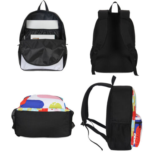 Pokemon Kids Backpack Boys Insulated Thermal Cooler Lunch Box Pen Bag Lot