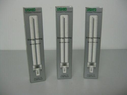 USHIO 9w CF9S//827 G23 Compact Fluorescent Light Bulb Lot of 3