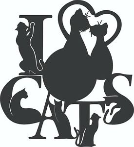 Details about DXF Vector files For CNC Laser Cut Router DXF CDR Files -  Cats Vinyl Wall Clock