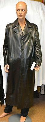 Giacca Cappotto Lungo Vera Pelle Nappa Jacet Ledder Black Nero Matrix