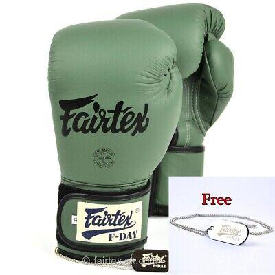 Fairtex Gloves Limited Edition BGV11 F Day Military Green MuayThai Boxing Gloves