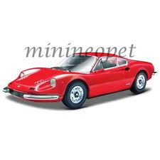 BBURAGO 18-26015 FERRARI 246 GT 1/24 DIECAST MODEL CAR RED
