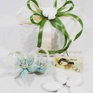 Fiocchetto Con Fiore In Ceramica Color Tiffany Robean Linea Dalia Ebay