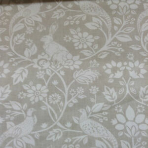 Heritage-Wildlife-Hares-Pheasants-Natural-Beige-Cotton-Curtain-Craft-Fabric