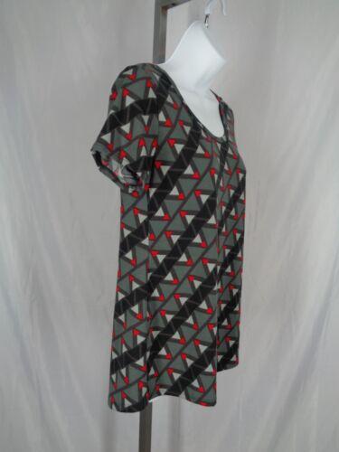 New Size Classic Top T Geometric Red Gray Lularoe Shirt Xs Black BPqv66w