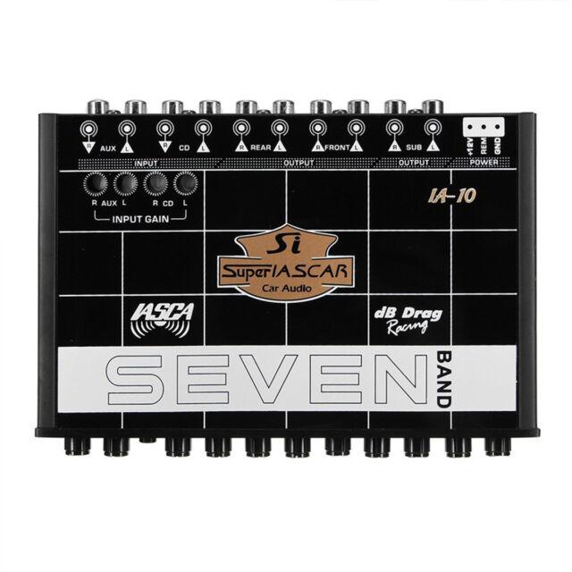 Car Audio Equalizer 7 Band 12ch Pre Amp Eq Sub Crossover Parametric