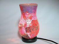 Mosaic Glass Table Lamp, Vase Shaped