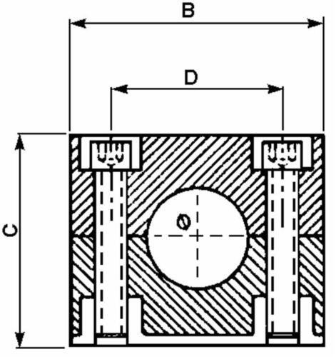 Tubo hidráulicos abrazadera /_ 16mm hydraulikrohr /_ tubo soporte /_/_/_/_/_/_/_/_/_/_/_/_/_/_/_/_/_/_/_/_/_/_/_/_/_/_