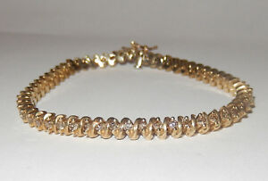 Das Bild wird geladen Diamantarmband-2-50-Karat-aus-585er -Gelbgold-Zertifikat 04b59167bd4e2