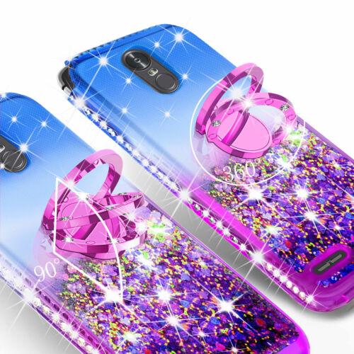 Para LG Stylo 3//Stylo 3 Plus Lindo Anillo De pie Teléfono Caso Con Soporte Brillante Ostentoso