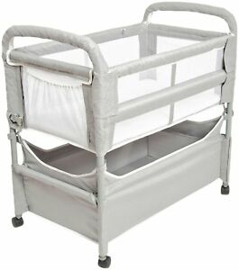 Arm-039-s-Reach-Clear-Vue-Baby-Co-Sleeper-Bedside-Bassinet-Gray-NEW