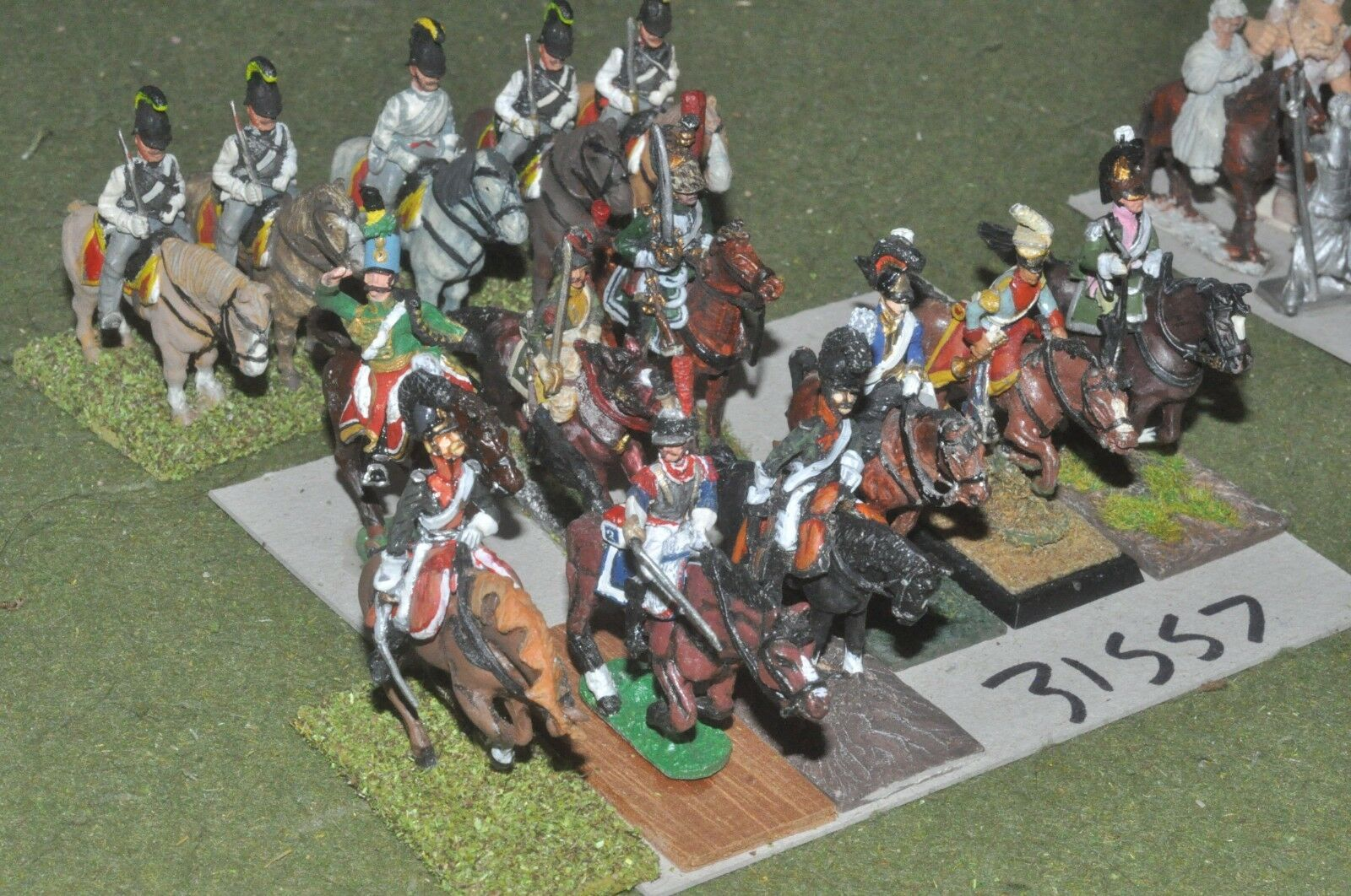 25mm napoleonic   generic - mixed (as photo) 14 figures - cav (31557)