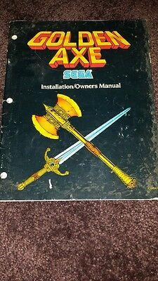 """Arcade Gaming Hearty Original Sega """"golden Axe"""" Coin-op Arcade Video Game Manual"""