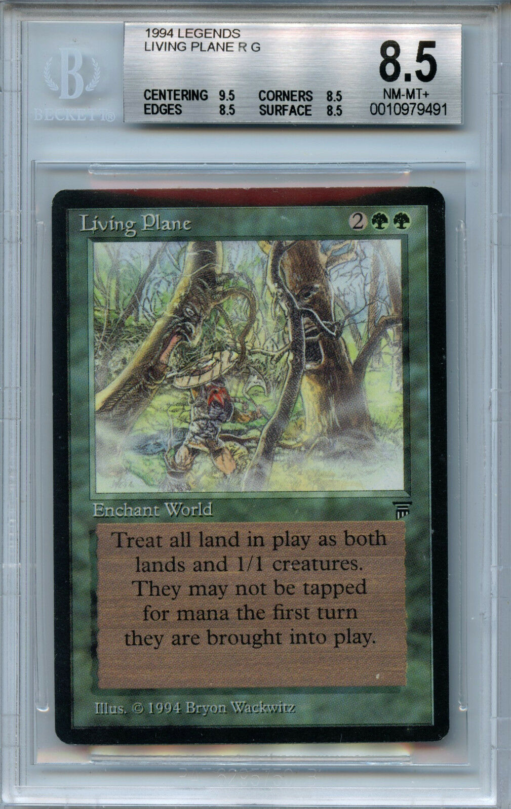 MTG Legends Living Plane BGS 8.5 NM-MT+ Magic card 9491 Amricons