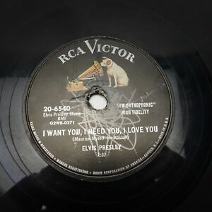 Elvis Presley I Want You/My Baby Left Me RCA VICTOR 20 ...