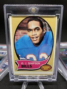 OJ Simpson RC 🔪🩸MISCUT MISPRINT HOF🔥1970 Topps Football Rookie #90 📈🌈 POP 1
