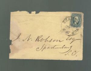 CONFEDERATE STATES OF AMERICA COVER, W/SCOTT# 11, FRONT ONLY, PM CHARLESTON SC