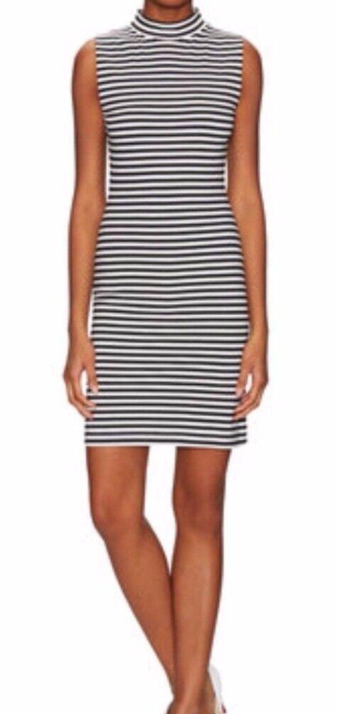 French Connection Striped Sleeveless Bodycon Dress schwarz Weiß, 8 NWT MSRP