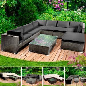 Gartenmöbel Poly Rattan Lounge Möbel Sitzgarnitur Gartengarnitur