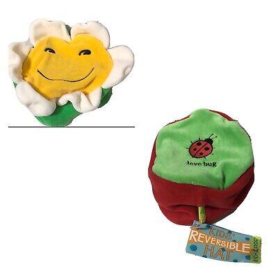 Reversible baby bonnet bugs