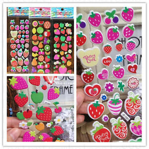 3-sheets-3D-fruit-Scrapbooking-amp-Paper-Crafts-stickers-lot-kids-favor-Xmas-gift