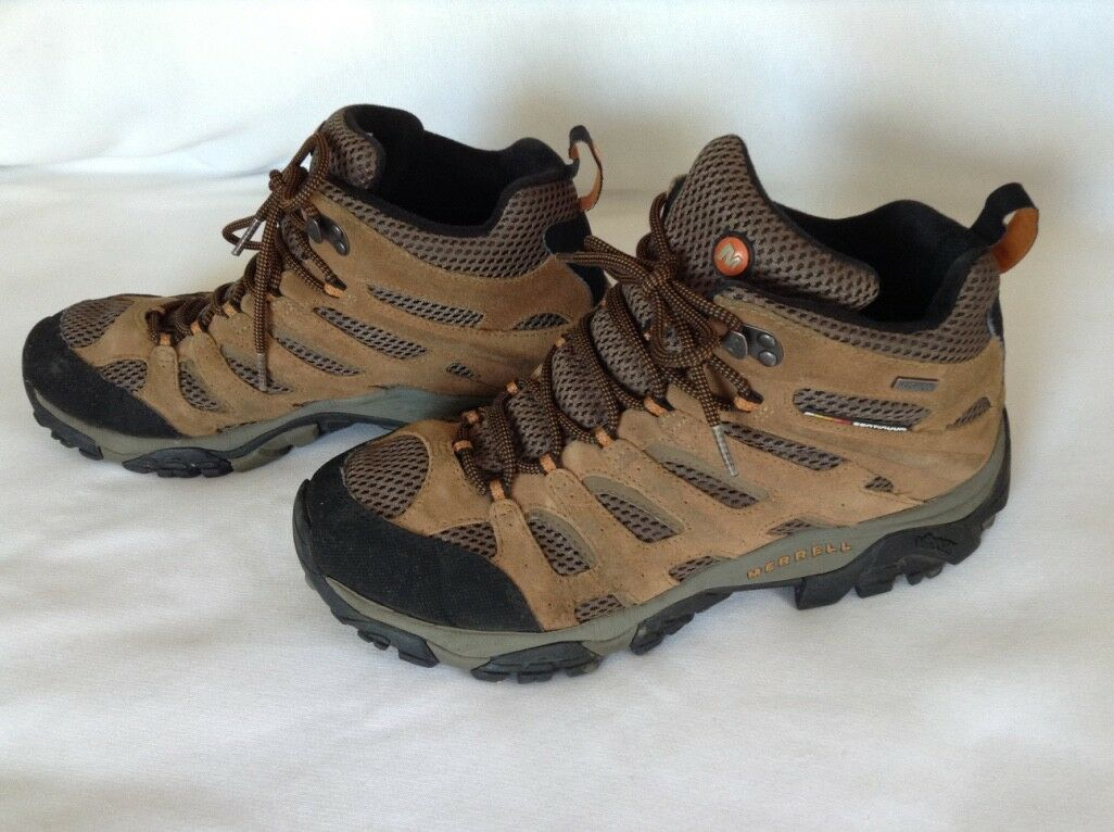 EARTH MERRELL High Top Hiking Boots Continuum Waterproof Vibram. Men's Size 10.5