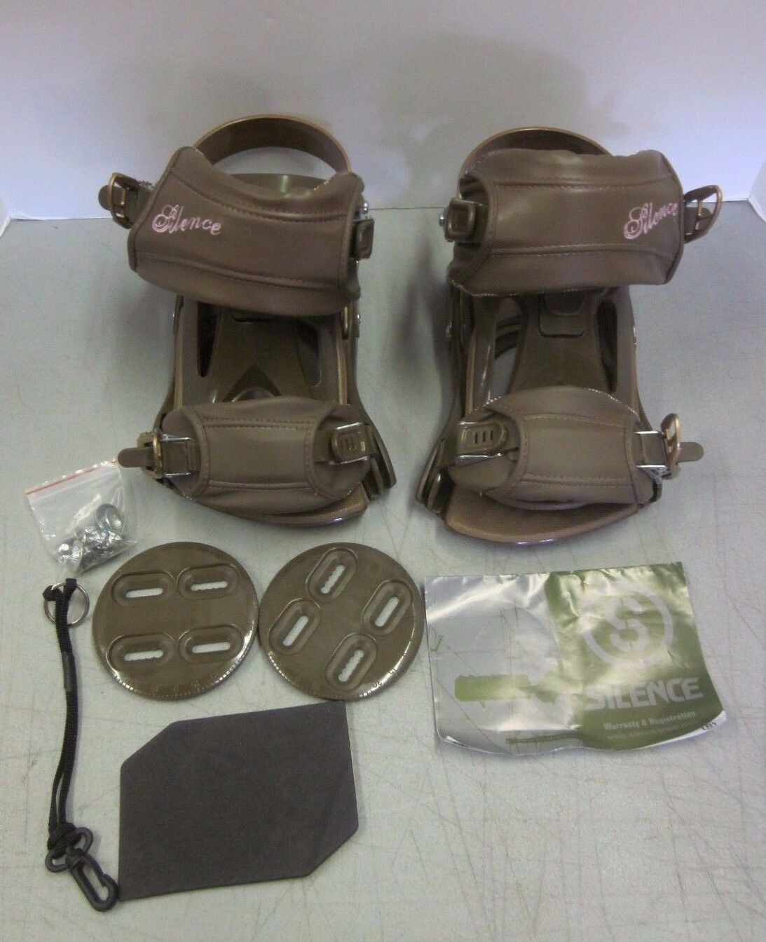 New Silence SNLC II Snowboard Fittings Bindings Olive Brown Size Small