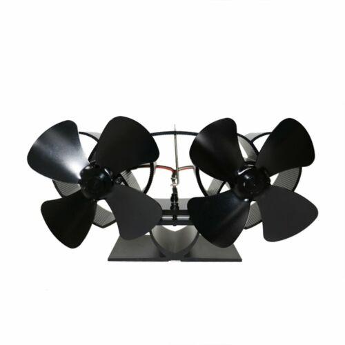 2//4//5 Blades Stromloser Kaminofen Ventilator Stove Fan Holzofen Ofen #1
