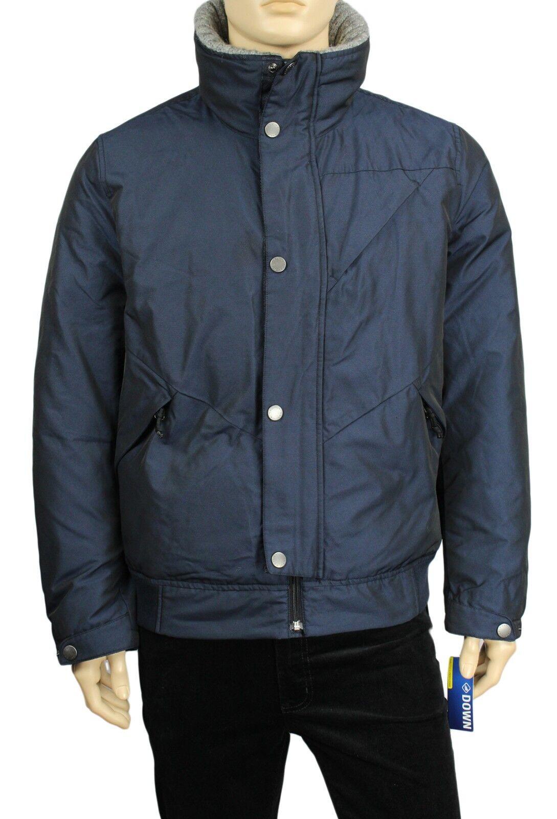 202789363 Nautica Midnight Navy Blue Mens Size 2xl Ribbed Bomber Jacket 018