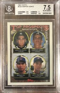 1993 Topps #529 Chipper Jones Rookie BGS 7.5 Near Mint+ Condition Braves HOF RC