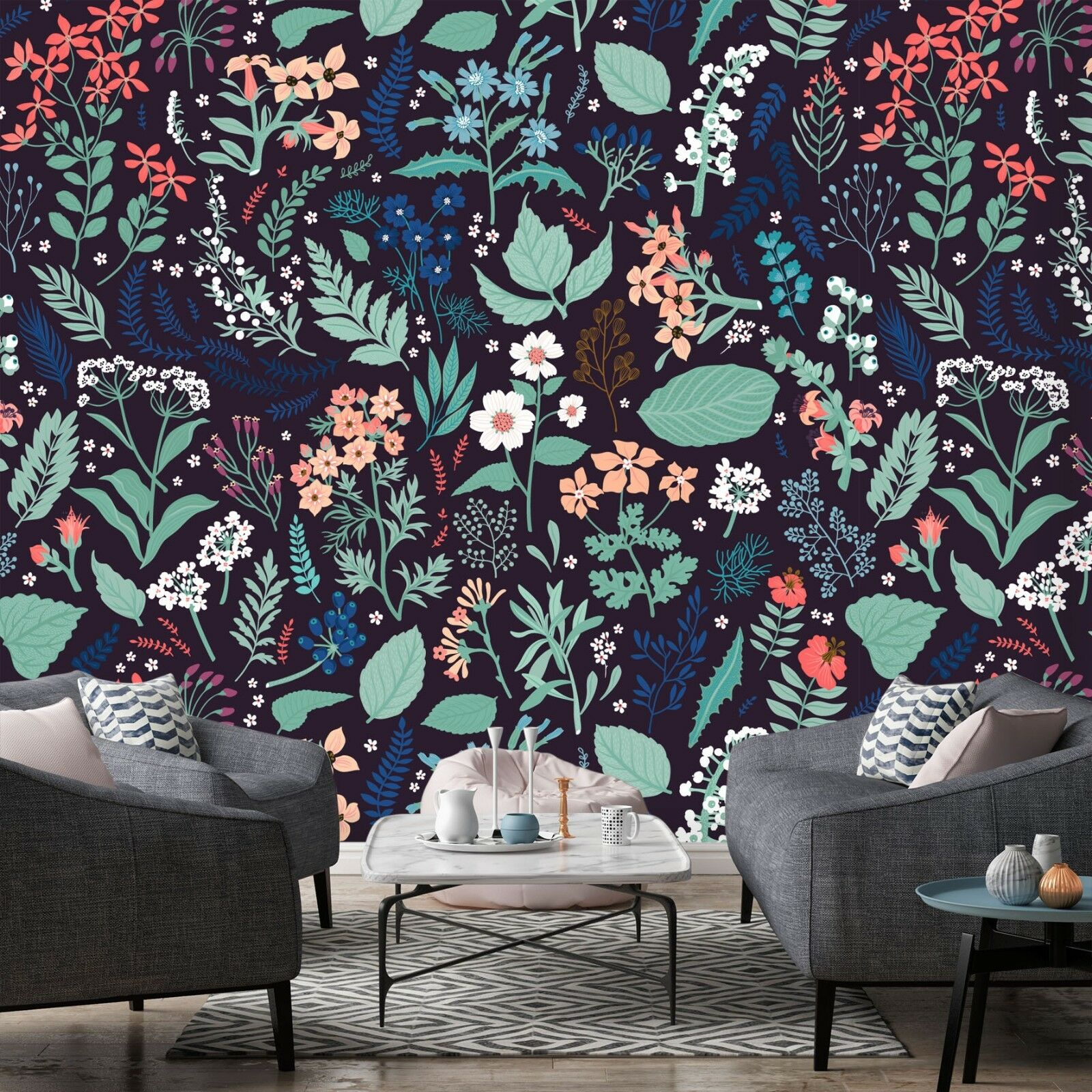 3D Grass Flower rot 7028 Wall Paper Print Wall Decal Deco Indoor Wall Murals US