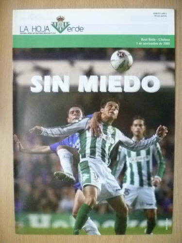 2005 CHAMPS LEAGUE CHELSEA V REAL BETIS