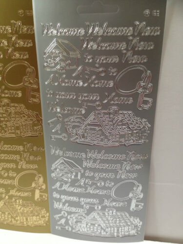 TO YOU BOTH WITH LOVE NEW HOME various Gold /& Silver Peel Off Stickers