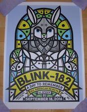 BLINK 182 concert gig poster print ABBOTSFORD 9-18-16 2016 Don Pendleton