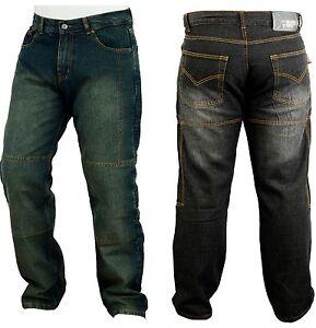 In Jeans Kevlar Fodera Moto Motorino Con Denim Pantaloni vHxPwqa