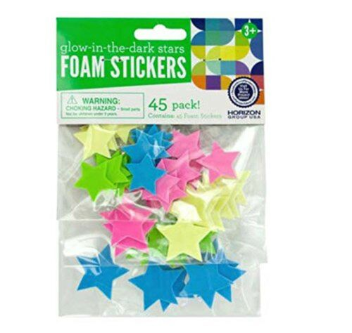 Glow-In-The-Dark Stars Foam Stickers 450 pcs