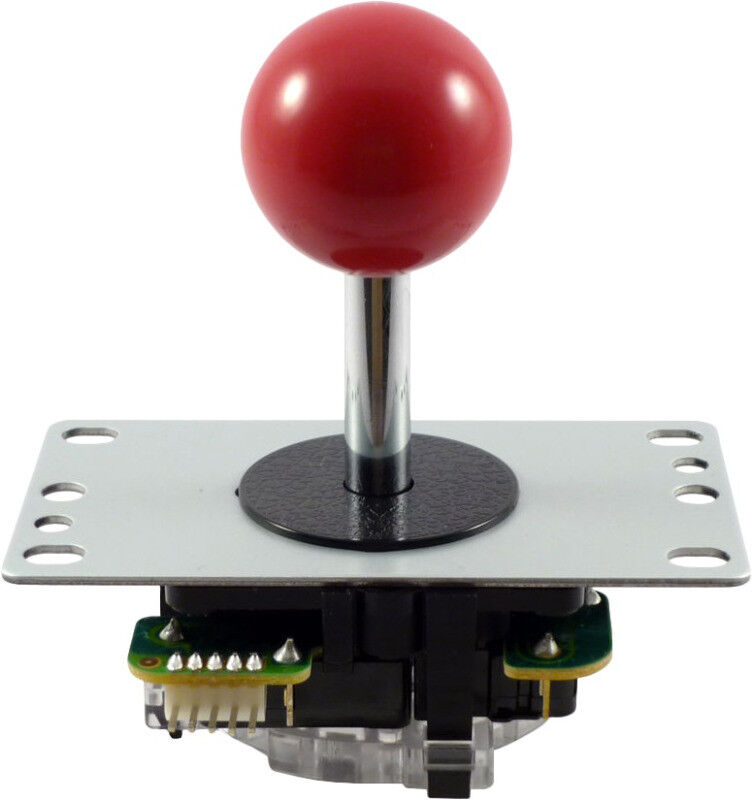 Sanwa JLF-TP-8YT Ball Top Joystick - Red (Arcade)(New)