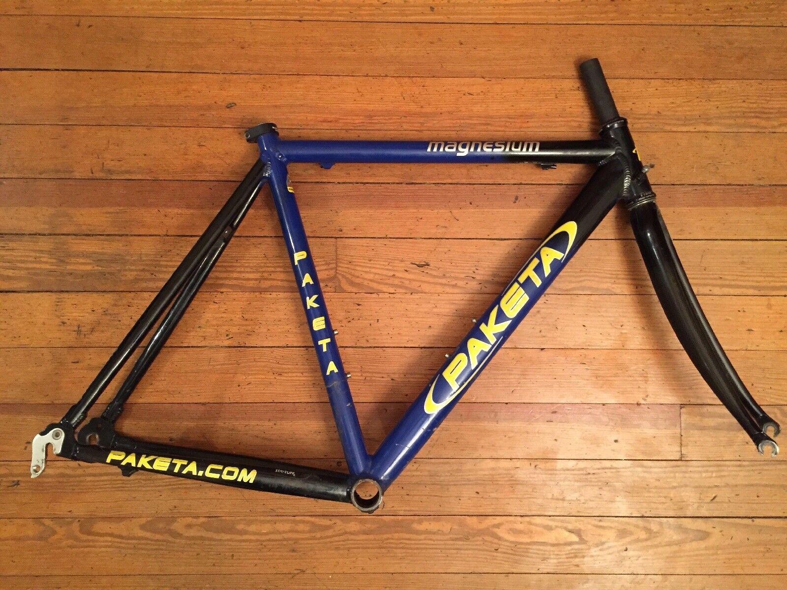 Paketa Magnesio Bici da Strada Frameset 52cm Reynolds Forcella Fatto Negli USA