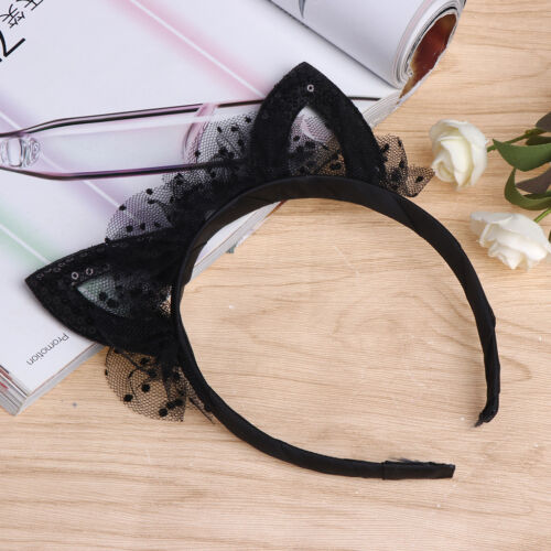 Mesh Cute Cat Ear Hair Band Girl Headwear Children Costume Accessories Head Hoop