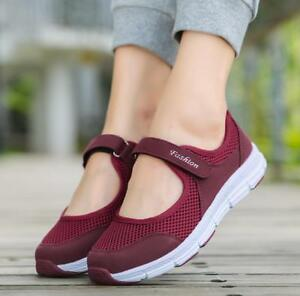 Women-Slip-On-Elastic-Flat-Shoes-Summer-Breathable-Casual-Sandals-Plus-size