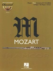 Brillant Mozart Flute Concerto Kv 314 (285d) D Major Play-along Sheet Music Book/cd-afficher Le Titre D'origine Style à La Mode;