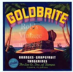Sebring Florida Sun Orange Citrus Fruit Crate Label Art Print