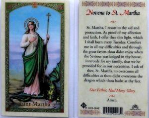 Prayer-Cards-eBay-Novena-to-Saint-Martha-To-Overcome-All-Difficulties-HC9-064E