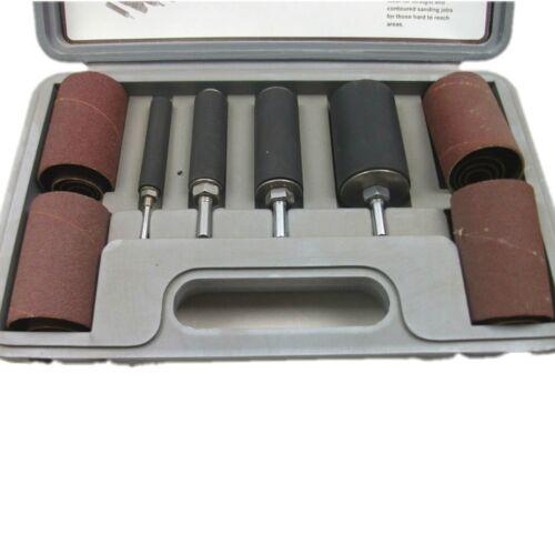 20 piezas juego de batería larga Lijadora de tambores de lijado para taladro Carpintería