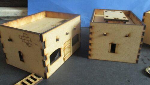 28mm Set P 5x Adobe Desert arab Afghaniastan Wild West buildings Scenery