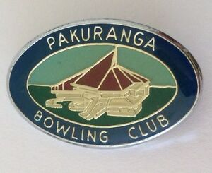 Pakuranga-Bowling-Club-Badge-Pin-New-Zealand-Rare-Vintage-M21