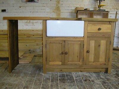 belfast sink units,pine  worktops+free sink